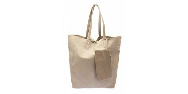 Dámska béžová kožená kabelka Free for Humanity