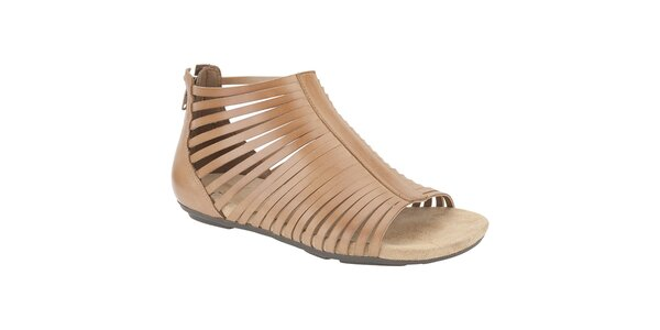 Dámske béžové členkové sandálky Clarks