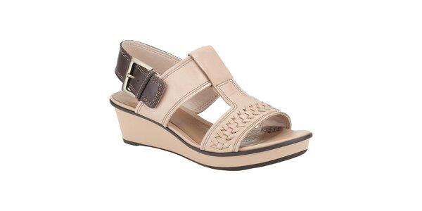 Dámske béžové sandálky Clarks