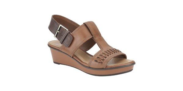 Dámske hnedo-béžové sandálky Clarks