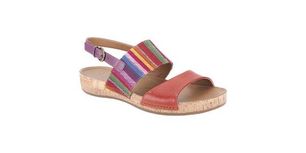Dámske pestrofarebné sandále Clarks