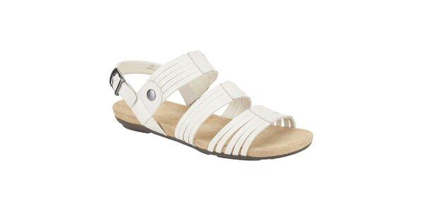 Dámske biele kožené sandále Clarks
