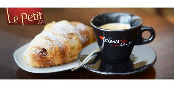 Luxusná havajská káva s croissantom