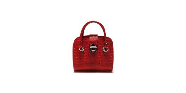 Dámska červená krokodília kabelka Sonia Ricci
