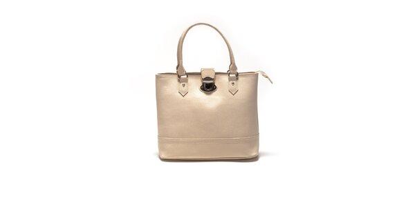 Dámska béžová kabelka so zámočkom Sonia Ricci