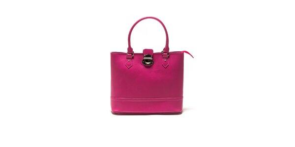 Dámska fuchsiová kabelka so zámočkom Sonia Ricci
