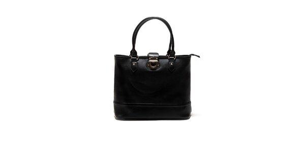 Dámska čierna kabelka so zámočkom Sonia Ricci
