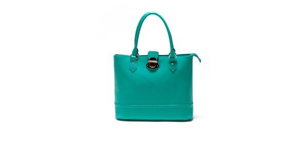Dámska tyrkysová kabelka so zámočkom Sonia Ricci