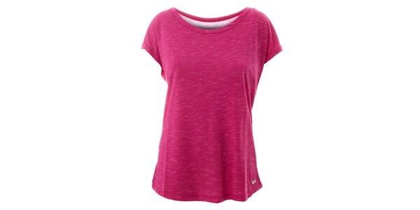 Dámske žihané ružové tričko Lee Cooper