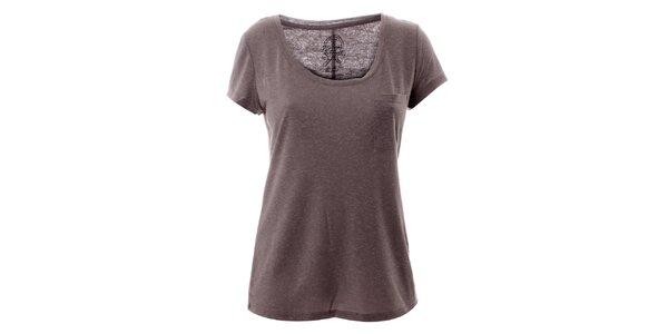 Dámske šedé tričko s vreckom Lee Cooper