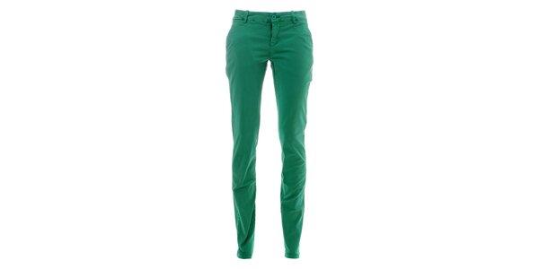 Dámske mätovo zelené nohavice Lee Cooper