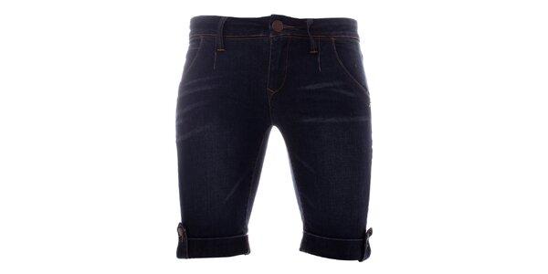 Dámske tmavé strečové džínsové kraťasy Lee Copper
