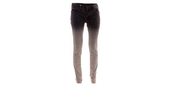Dámske šedé džínsy s ombré efektom Lee Cooper
