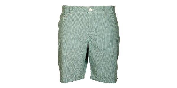 Pánske modro-zelené kockované šortky Lee Cooper