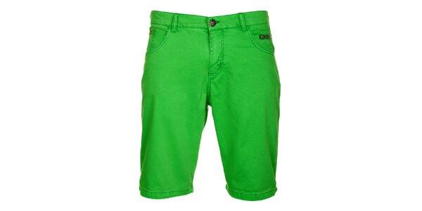 Pánske hráškovo zelené šortky Lee Cooper
