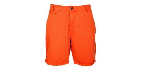 Pánske oranžové šortky Lee Cooper