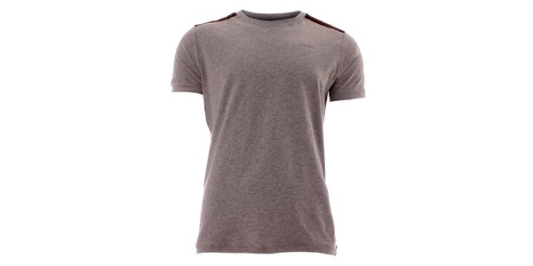 Pánske šedé tričko s pruhmi na ramenách Lee Cooper