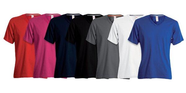 Klasické dámske tričko V-NECK s krátkym rukávom