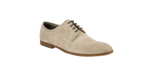 Pánske béžové semišové vychádzkové topánky Clarks