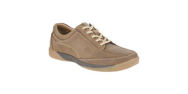 Pánske hnedé kožené topánky Clarks