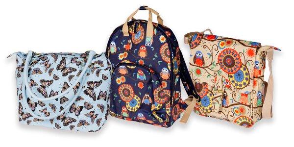 Veselé dámske plátené tašky a batohy