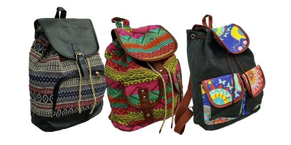 Plátený ruksak s indiánskym motívom