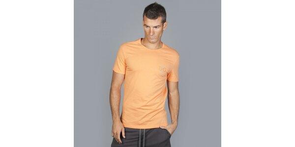 Pánske oranžové tričko Guess by Marciano