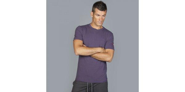 Pánske tmavo fialové tričko Guess by Marciano