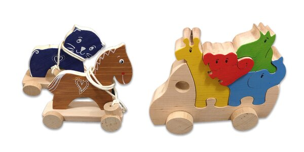 Tradičné drevené hračky pre deti od 3 rokov