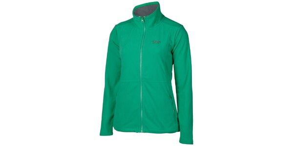 Dámska mätovo zelená športová fleecová mikina Chiemsee