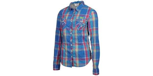 Dámska ružovo-modrá kockovaná košeľa Chiemsee