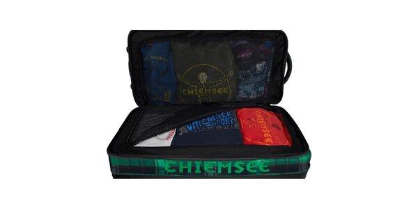 Dámsky zeleno-čierny kufrík Chiemsee