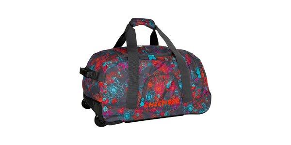 Dámska kvetovaná cestovná taška na kolieskach Chiemsee