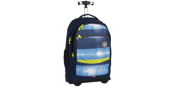 Dámsky žlto-modrý cestovný vozík na kolieskach Chiemsee