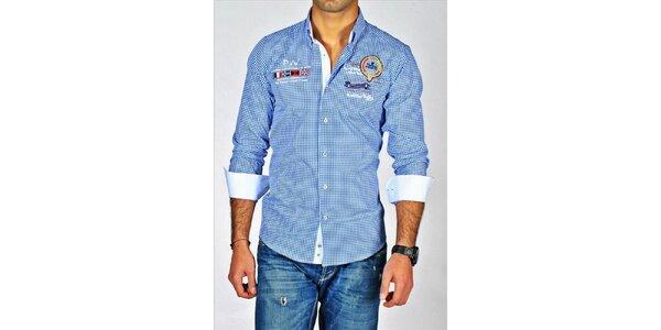 Pánska modro kockovaná košeľa Pontto