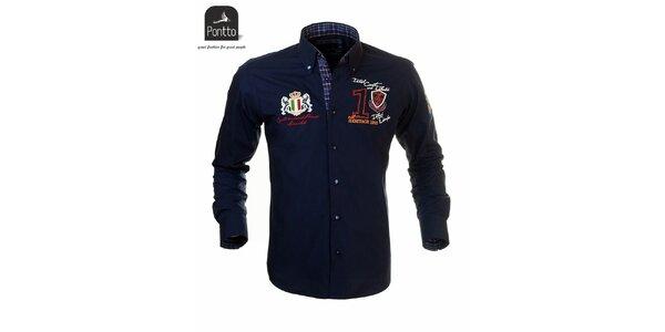 Moderná pánska košeľa Pontto