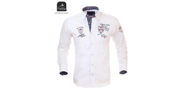 Pánska snehobiela košeľa Pontto