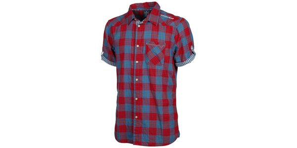Pánska modro-červená kockovaná košeľa Chiemsee
