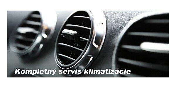 Plnenie a čistenie klimatizácie áut + dezinfekcia