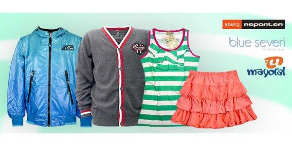 35% zľava na detské a tínedžerské oblečenie