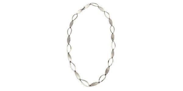 Dámsky oceľový náhrdelník Tribal Piercing s oválnými očkami