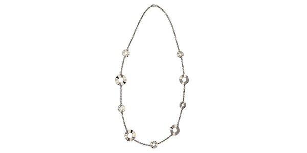 Dámsky oceľový náhrdelník Tribal Piercing s brúsenými kolieskami