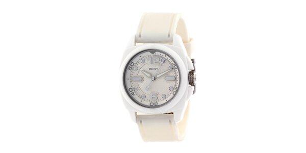 Dámske biele plastové hodinky DKNY