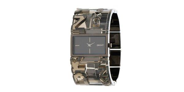 Dámske oceľové hodinky DKNY s transparentným ramienkom