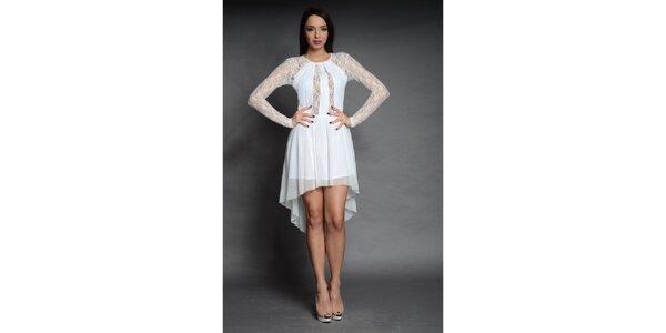 Dámske biele čipkované šaty Oriana