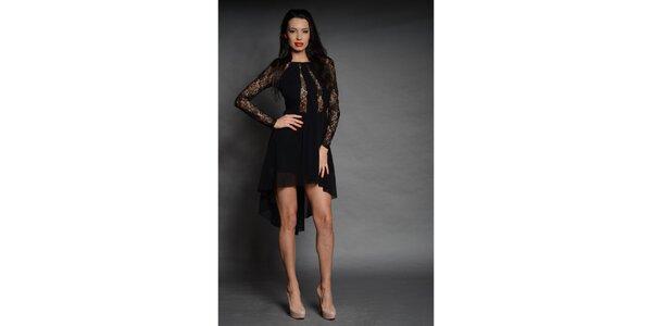 Dámske čierne čipkované šaty Oriana