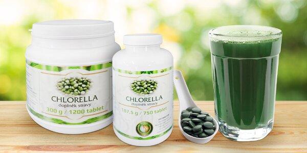 Chlorella: balenie 750 alebo 1200 tabliet