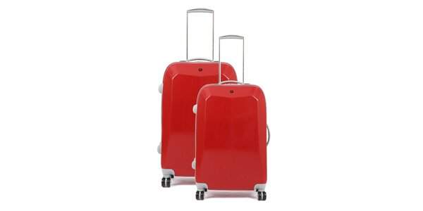Set dvoch červených kuforov na kolieskach Artvi