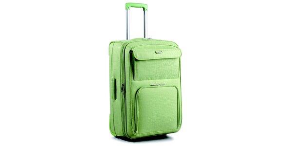 Dámsky zelený kufor na kolieskach Artvi