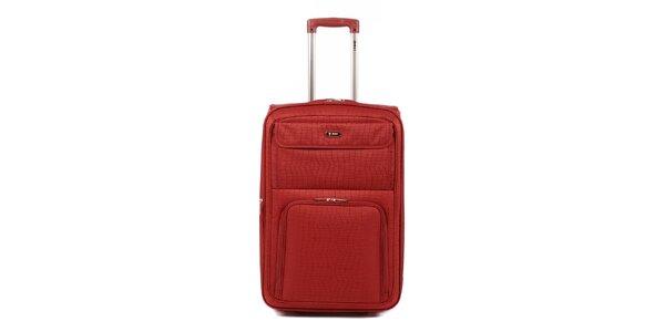 Dámsky červený kufor na kolieskach Artvi